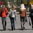 Shopping women walking on the street — Stock Photo #1846055