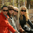 Group of women friends in a park — Stock Photo #1846310