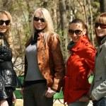 Women friends in park — Stock Photo