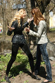 Quarrel between best friends — Stock Photo