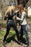Quarrel between best friends — Stock Photo