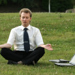 Businessman and yoga — Stock Photo #1955837