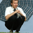 Man with umbrella — Stock Photo #1955893