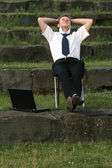 Relaxing businessman — Stock Photo