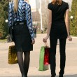 Royalty-Free Stock Photo: Shopping women walking on the street