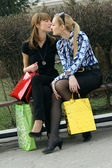 After shopping — Stockfoto