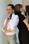 Two Female agents — Stock Photo