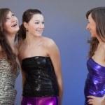 Three women talking — Stock Photo