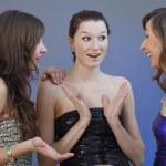 Party girls talking — Stock Photo