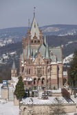 Drachenburg castle in winter — Stock Photo