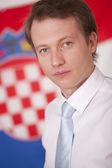 Portrait of politician — Stock Photo