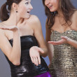 Girls talking — Stock Photo