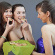 Stock Photo: Eating party snacks