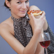 Eating pizza — Stock Photo #2533357