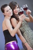 女の子の乾杯 — ストック写真