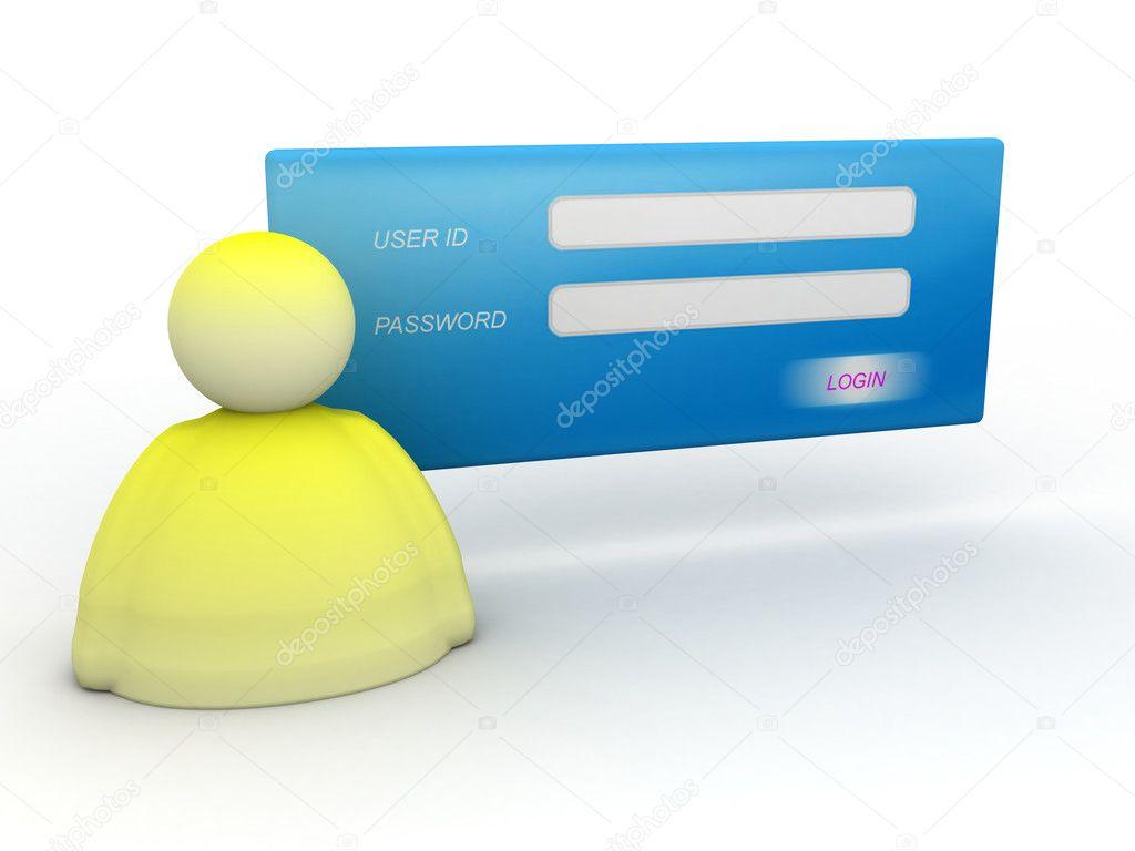 User Login Icon Jpg Illustration of login and