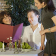 Flirting in restaurant — Stock Photo