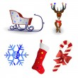 Royalty-Free Stock Imagen vectorial: Christmas icon collection