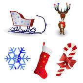 Christmas icon collection — Stock Vector