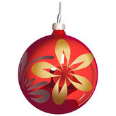 Christmas-tree ornament sphere — Stock Vector