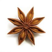 Perfect, symmetric anise star isolated — Stock Photo