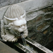 Stock Photo: Old bull head waterworks