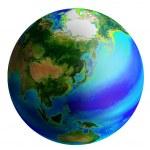 Globe, asia — Stock Photo
