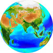 Royalty-Free Stock Photo: Globe eurasia