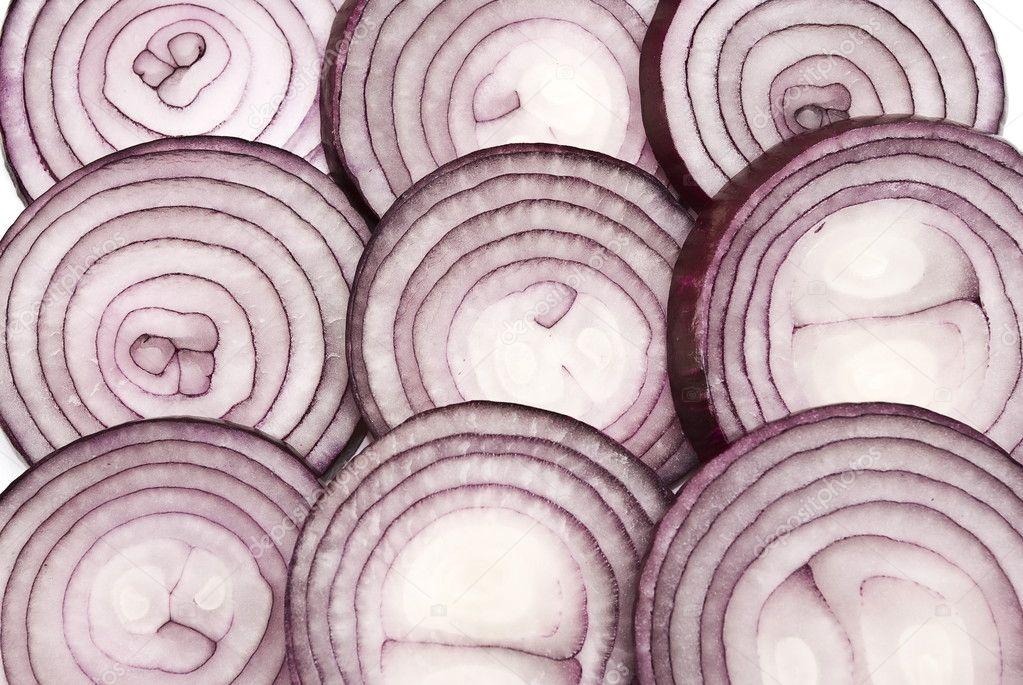 Sliced red onion background   — Stock Photo #1162095