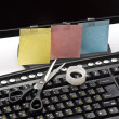 Sticky notes and black monitor — Stock Photo #1534316