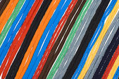Colorful shoelaces background — Stock Photo