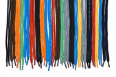 Colorful shoelaces — Stock Photo