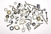 Nuts, bolts,springs and screws — Stock Photo