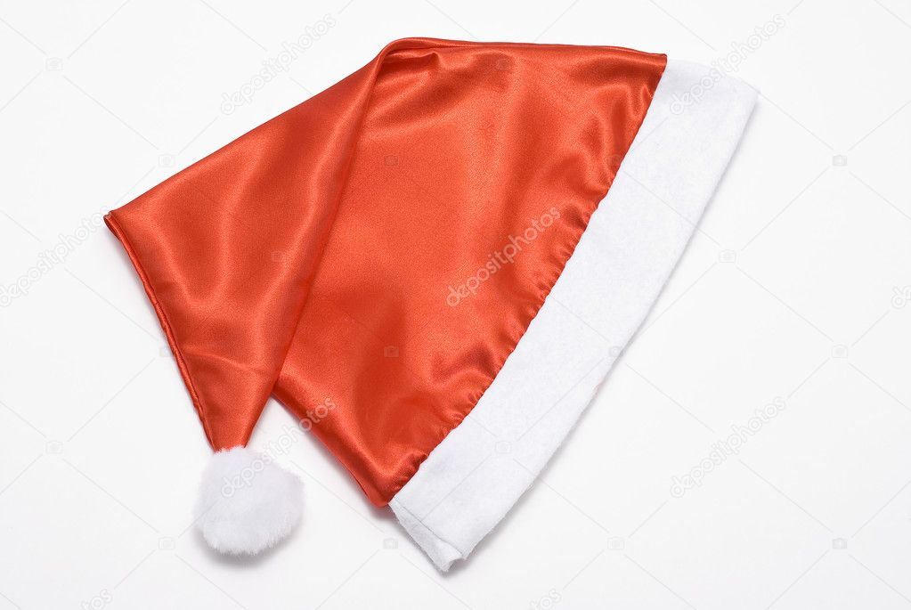 Santa Claus cap on white — Stock Photo #1531532