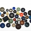 Scattered old buttons — Stock Photo