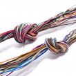 Wire knots — Stock Photo
