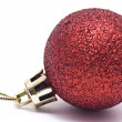 Red christmas ball. — Stock Photo