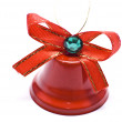 Red christmas bell — Stock Photo