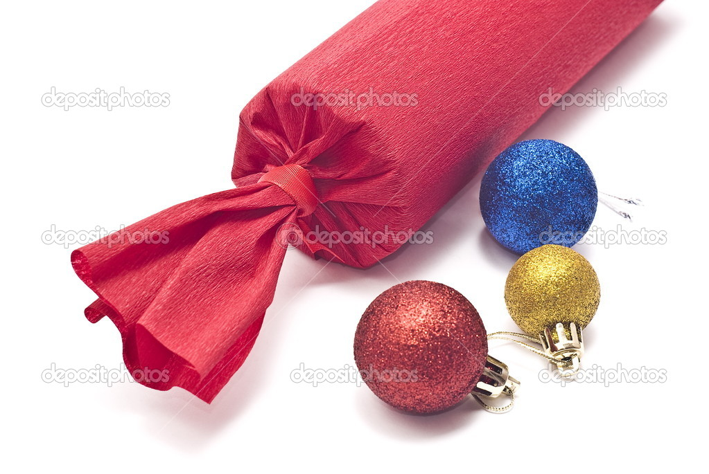 Christmas gift on white — Stock Photo #1557796