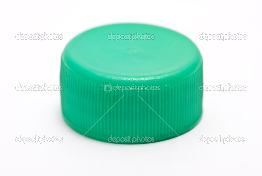 Green stopper on white — Stock Photo #1557803