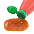 Stock Photo: Ketchup spilling