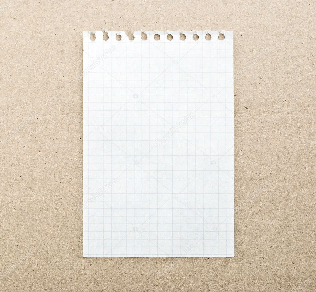 Blank note paper background on the cardboard — Stock Photo #1593016