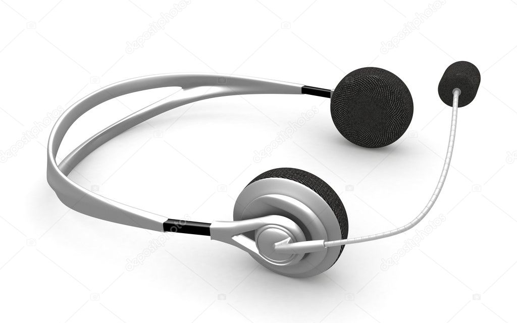 3d render- headphones on white background — Stock Photo #1162125