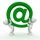 Big green email!!! — Stock Photo