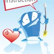 Stock Vector: Love instructions