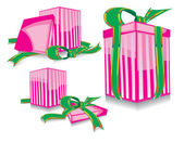 Set of the pink gift — Stock Vector