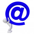 Stock Photo: Big blue email!!!