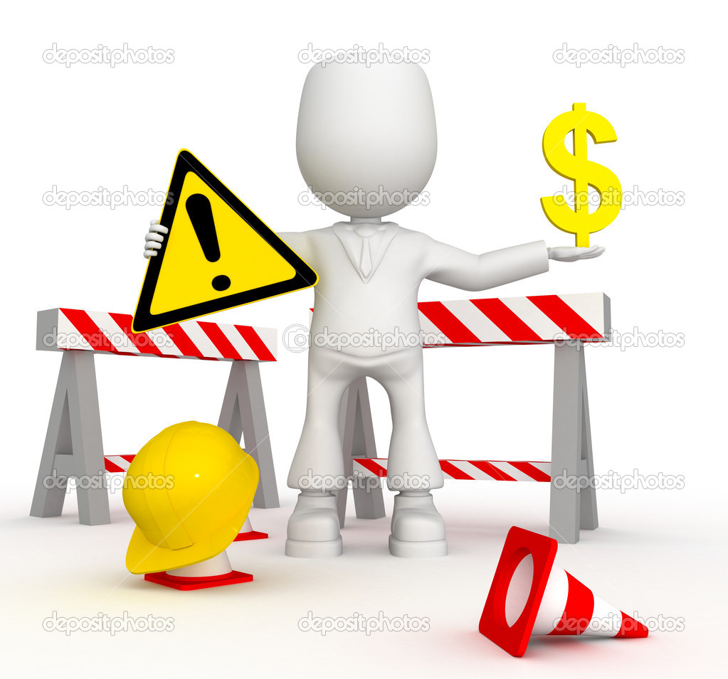 Repair of the money road). 3d image isolated on white background.  Stock Photo #1944218
