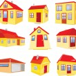 Variants of houses — Stock Vector