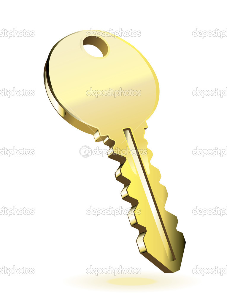 Vector Key Illustration: Stock Vector © Rejects #2428892